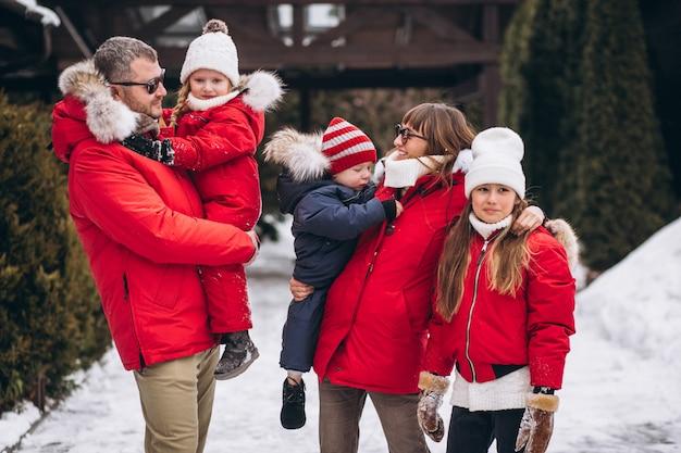 冬の外の家族