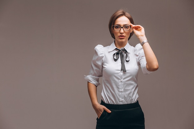 分離された感情を持つ女性実業家