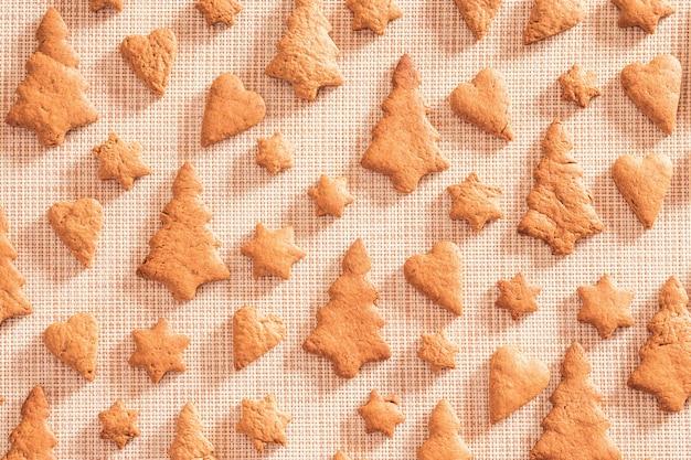 ジンジャーブレッドクッキートップビュー、フラットレイアウト