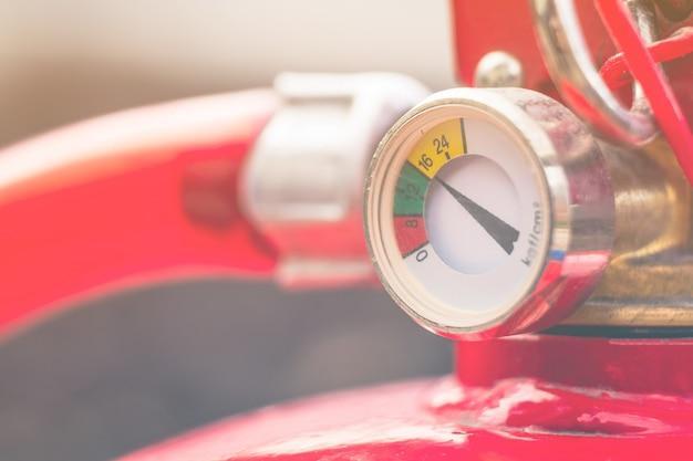 消火器圧力計スケール、低圧。