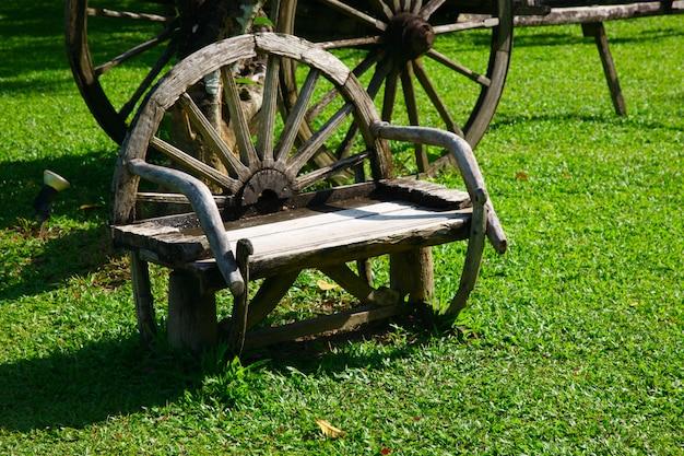 Уникальная скамейка в форме колеса