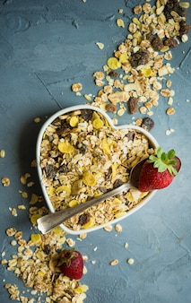 健康的な朝食のコンセプト