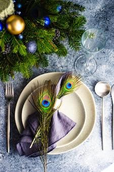 Праздничная сервировка на рождественский ужин