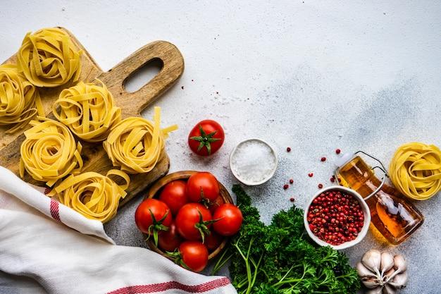 パスタと食材のコンセプト