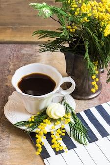 Цветы кофе и мимозы