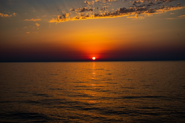 黒海のアジャリアの海岸線