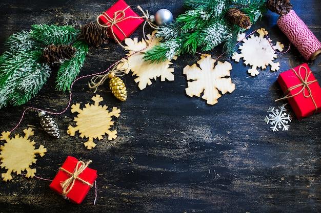 クリスマス木製雪片