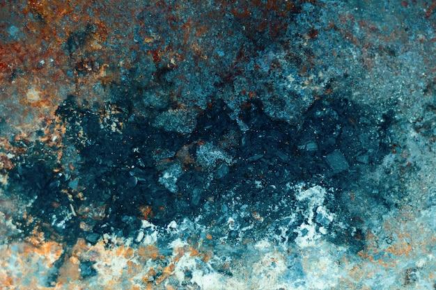 ハロウィーンの古い金属の背景