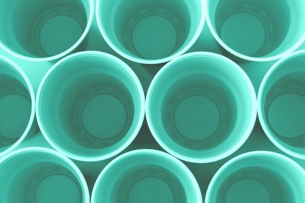 プラスチックネオンミントカップの平面図。
