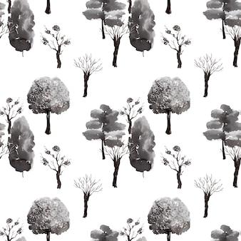 インク背景画像日本庭園