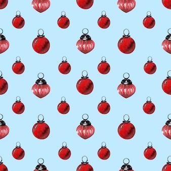 水彩パターンクリスマスの休日の装飾