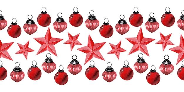 Акварельный фон новогодний праздничный декор