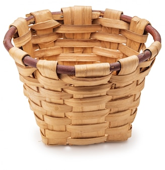 白の美しい枝編み細工品バスケット