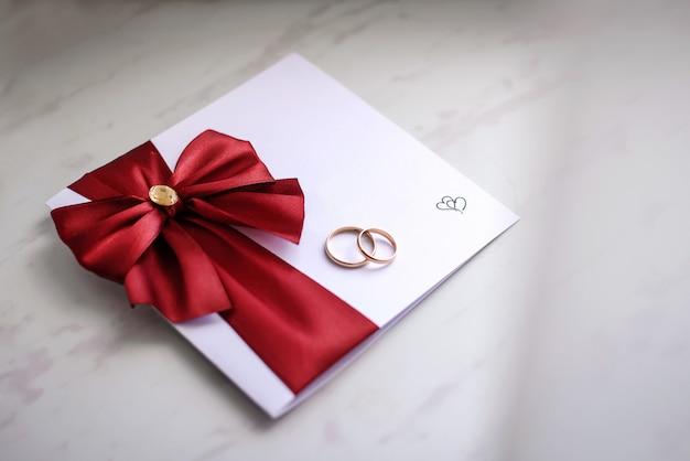 結婚招待状の結婚指輪