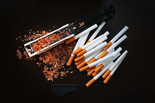 自宅でのタバコの生産。