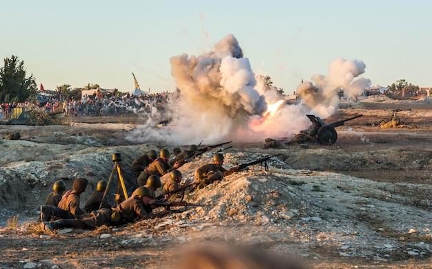 Реконструкция битвы со взрывами