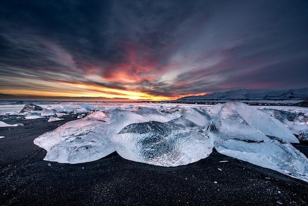 アイスランドのダイヤモンドビーチ