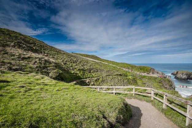 Красивый пейзаж в северной ирландии