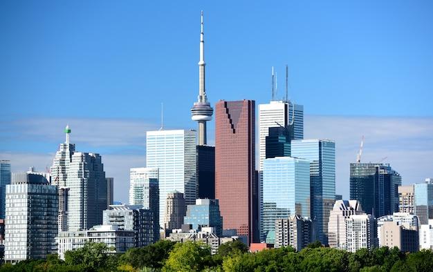 Современные здания торонто, онтарио, канада
