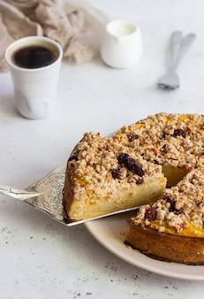 カボチャとクランブルのチーズケーキ