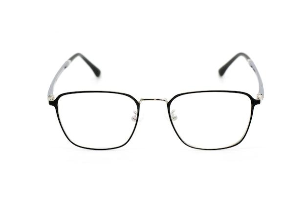 白で隔離される現代のファッショナブルな眼鏡のイメージ