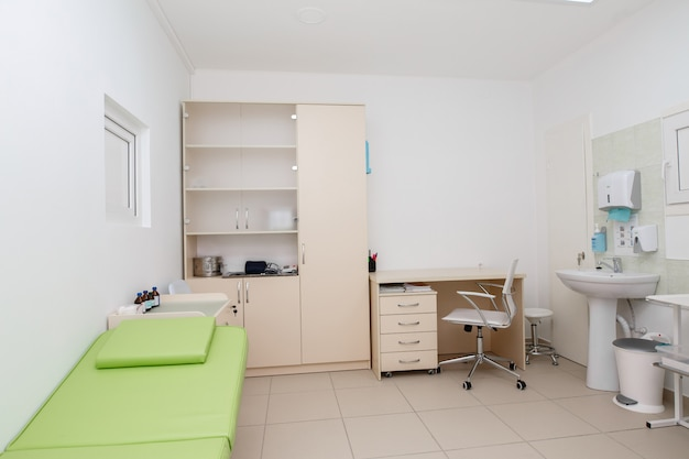 病院のチェックインの部屋。医院。医者の部屋をクローズアップ