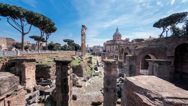 イタリア、ローマのフォロロマーノ