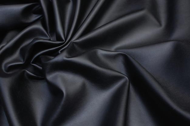 黒のテクスチャ背景の描画の模造革