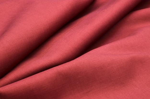 赤い綿生地