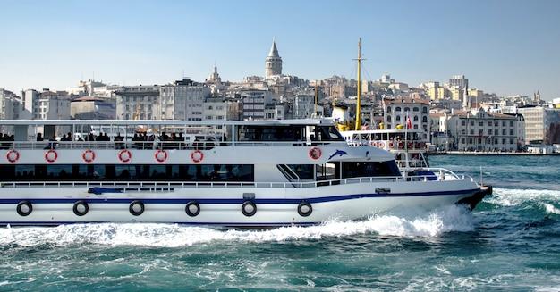 イスタンブールのボスポラス海峡の交通