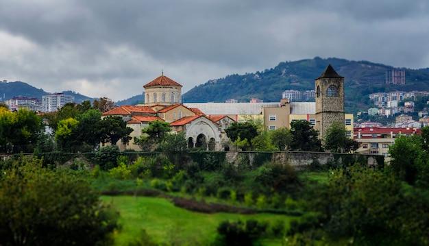七面鳥。トラブゾン。アヤソフィア教会(ギリシャ正教会、現在のアヤソフィア博物館)