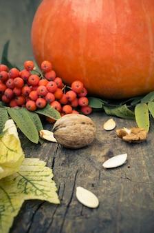 感謝祭の秋の背景
