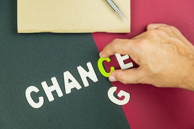 変化の概念は良いチャンスです