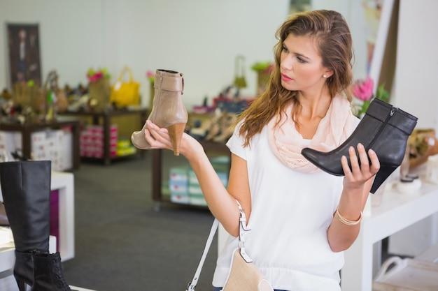 靴を選ぶのが難しい女性