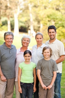 Семья в парке