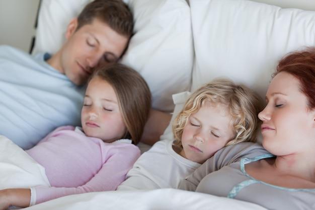 一緒に眠れる家族