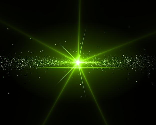 緑の星の背景