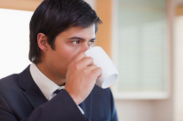 ビジネスマン、お茶、飲み物