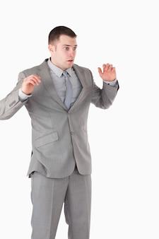 Портрет удивленного бизнесмена