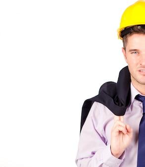 建設労働者の笑顔