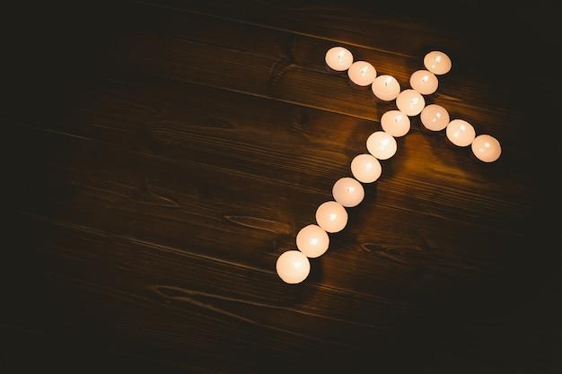 Свечи в форме креста