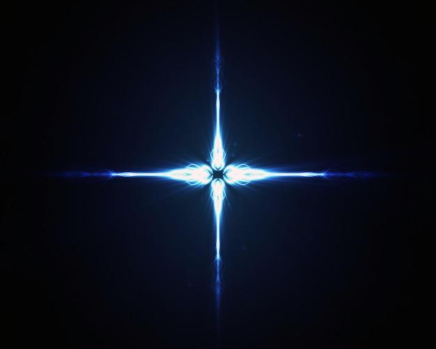 青い星の背景