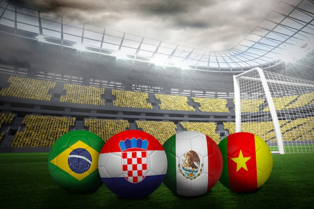 グループワールドカップのサッカー