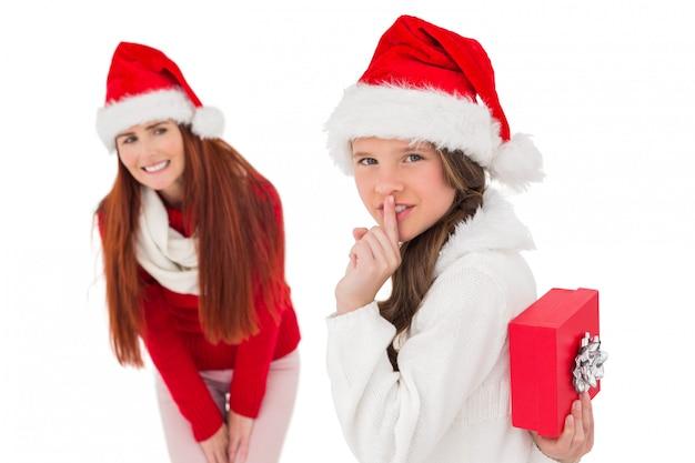 母と娘とクリスマスプレゼント