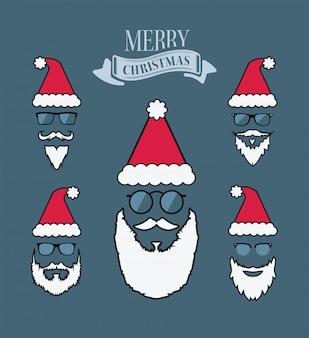 メリーのクリスマスベクトル、サンタひげ
