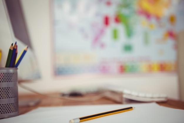 Крупным планом вид деловой стол в офисе