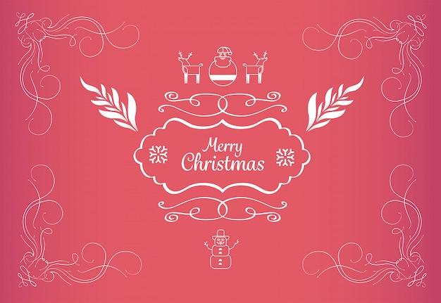 メリークリスマスメッセージベクトルイラスト