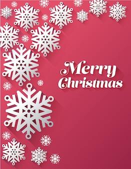 メリークリスマスベクトルと雪片