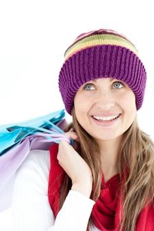 Положительные женщины, холдинг сумок