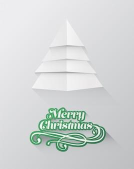 ツリーデザインのクリスマスの挨拶メッセージ